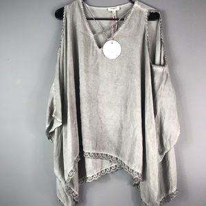 NEW umgee grey charcoal pull over Tunic/Shirt